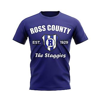 Contea di Ross costituita Football t-shirt (Navy)