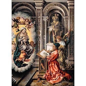聖ルカ絵画聖母、ヤン・ゴサールト・マブセ、50x37cm