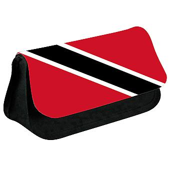 Trinidad and Tobago Flag Printed Design Pencil Case for Stationary/Cosmetic - 0179 (Black) by i-Tronixs