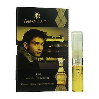 Amouage ' Gold ' Eau de toilette spray para o homem. 05oz Carded Vial (fórmula vintage)