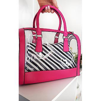 IKRUSH Womens Emilee Transparent TwoOne Tote Handbag