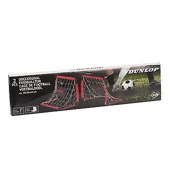 Dunlop Fußballtor 78x56x45cm 2pc Black Red