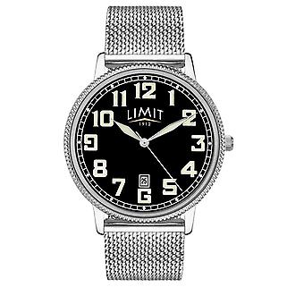 Limit | Mens Stainless Steel Mesh Bracelet | Black Dial | 5748.01 Watch