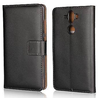 Wallet Case Nokia 8 Sirocco, genuine leather, black