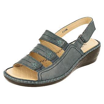 Ladies Eaze Comfort Wedge Sandals