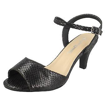 Ladies Anne Michelle Mid Heel Sandals F10906