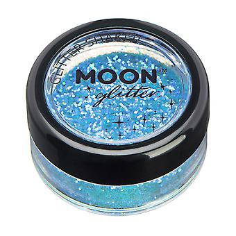 Iridescent Glitter Shakers by Moon Glitter – 100% Cosmetic Glitter for Face, Body, Nails, Hair and Lips - 5g - Blue