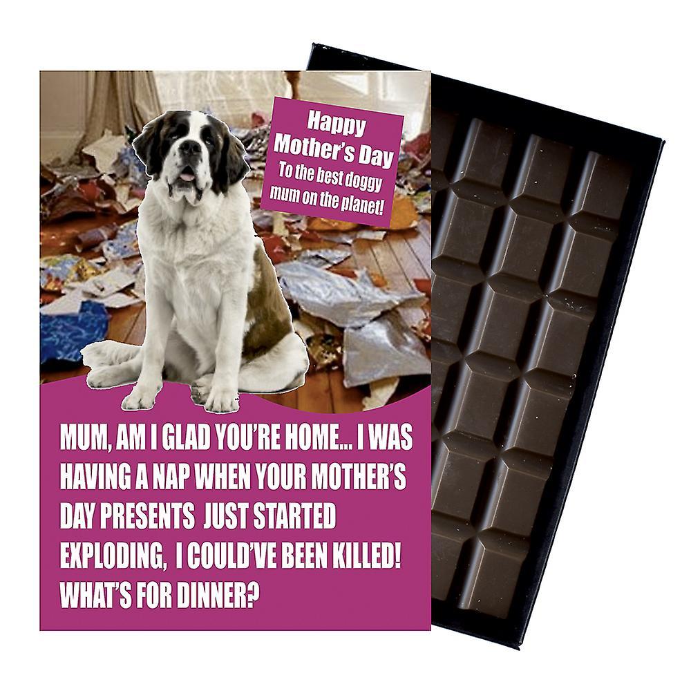 Saint St Bernard Owner Dog Lover Mother's Day Gift Chocolate Present For Mum