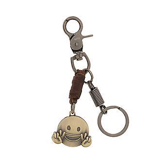 Шкипер Keychain Keychain с Смайлик Браун 8120
