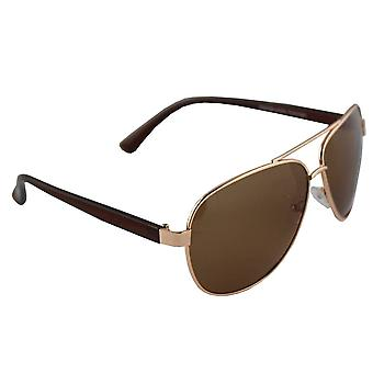 Men's sunglasses and Sunglasses Women's Polaroid Pilot - Gold/Brown with free brillenkokerS308_3
