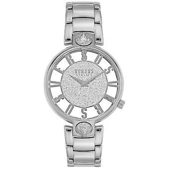 Versus Versace | Mulheres ' s Kirstenhof | Bracelete em aço prateado | Glitter dial VSP491319 Watch