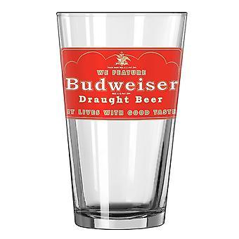 Budweiser Draught Beer Pint Glass