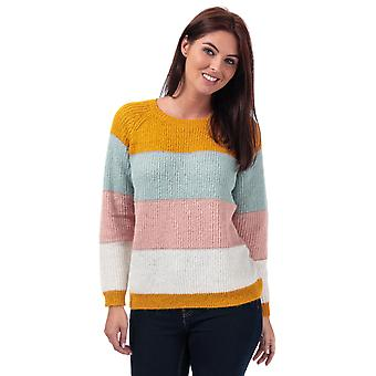 Womens Only Malone Striped Jumper In Golden Yellow