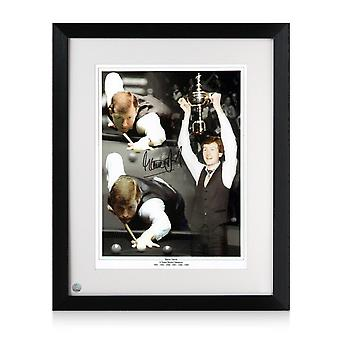 Steve Davis Signed Snooker Photo. Framed