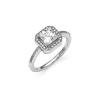 925 Sterling Silver and CZ Cubic Zirconia Simulated Diamond Fancy Ring Jewelry Gifts for Women - Ring Size: 6 to 8