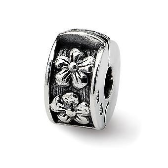 925 Sterling Sølv Refleksjoner Hengslet Floral Klipp Perle Sjarm Anheng Halskjede Smykker Gaver til Kvinner