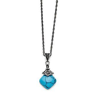 Roestvrij staal gepolijst fancy kreeft sluiting met kristallen cirkelvormige ketting 18 inch sieraden geschenken voor vrouwen