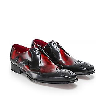 Jeffery-West Patent Leather Scaramanga Gibson Shoes