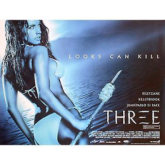Kolme (kaksipuolinen) alkuperäinen elokuva juliste