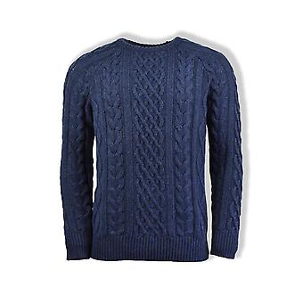 Far Afield Deniz Cable Knit Jumper (Blue Graphite)