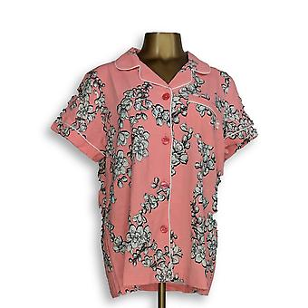 Beauty Sleep by BedHead Women's Sleepshirt Short Sleeve Notch Pink A346769