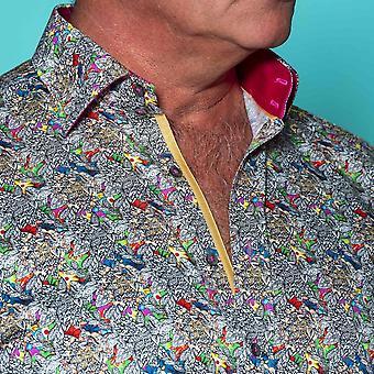 CLAUDIO LUGLI psychedelische Paisley Herren Shirt