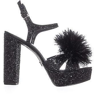 Michael Michael Kors Womens Fara glitter Feather platform sandalen