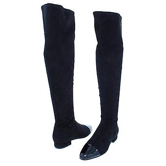 Ivanka Trump Womens Alie Faux Suede Patent Trim Knee-High Boots
