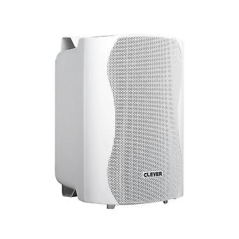 Clever Acoustics Wps25t White 100v Weatherproof Speakers (pair)