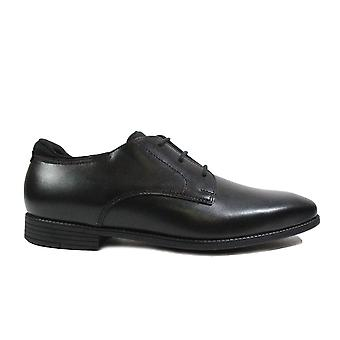 Startrite Academy Black Leather Boys Lace Up Formal School Shoes