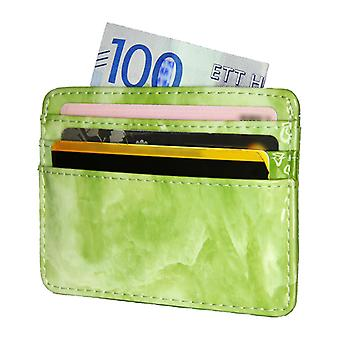 TOP Card holder slimmed ID-pocket wallet Marble Green