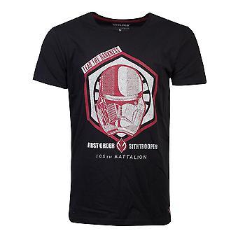 スターウォーズリードダークネスファーストオーダーストルーパー第105大隊Tシャツ男性XXL