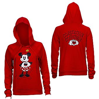 Minnie Mouse Heart Red Juniors equipado hoodie