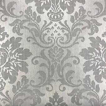 Grandeco stof Royal damast patroon glitter motief getextureerde wallpaper A10904
