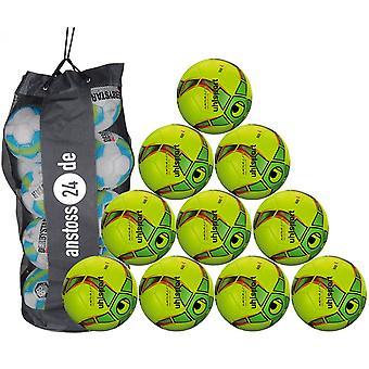 10 x Uhlsport młodzieży piłka Futsal - MEDUSA ANTEO 290 ULTRA LITE zawiera Biegański