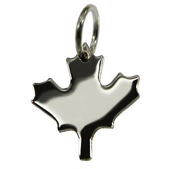 Pendentif Canada Maple Leaf en 925 Argent