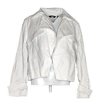 Du Jour Women's Open Front Cropped Jacket White A303287