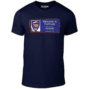 Men's welcome to fortitude t-shirt