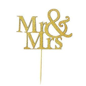 Vincenza mr & mrs cake topper decoratie voor cupcake decor