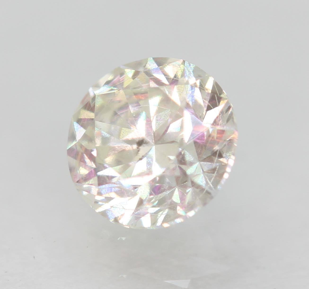 Certified 0.46 Carat H VS2 Round Brilliant Enhanced Natural Loose Diamond 4.79mm