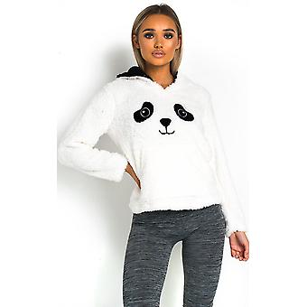 IKRUSH Womens Cathy Fluffy Animal Hooded Jumper