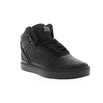 Osiris Cultur Mens Black Leather Mid Top Lace Up Skate Sneakers Chaussures