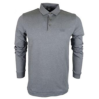 Hugo Boss Pado 11 Pima Cotton Regular Fit Long Sleeve Dark Grey Polo