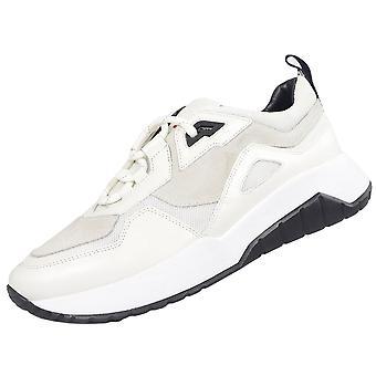 Hugo Boss Footwear Atom_run Suede/nylon White Patterned Trainer