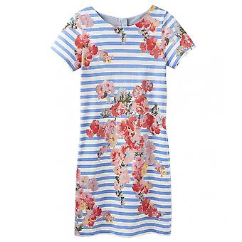 Joules Joules Ottie Womens Jersey Woven Mix Short Sleeve Shift Dress S/S 19