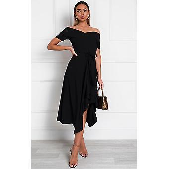 IKRUSH Womens Safia Frill Wrap Dress