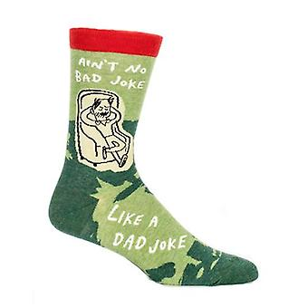 Blue q - ain't no bad joke like a dad joke mens crew socks