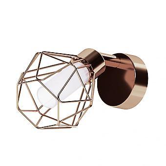 Eglo Zapata Matte Copper Single Cage Spotlight G9 LED