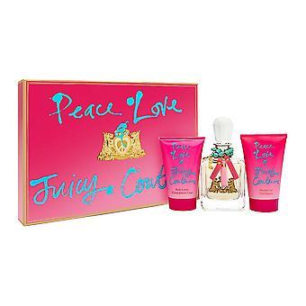 Friedensliebe & saftige Couture von saftigen Couture für Frauen 3 Stück Set enthält: 3,4 oz Eau de Parfum Spray + 4,2 Oz Körper Creme + 4,2 Unzen Duschgel