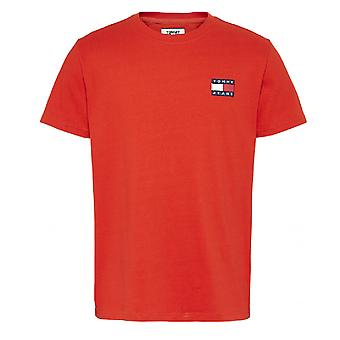 Tommy Hilfiger Badge Tee Rood T-shirt